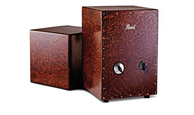 The Cube (left) boasts five different playing surfaces with the sixth equipped with an oversized contoured soundhole
