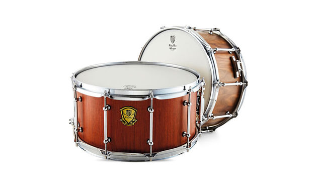 Sound-wise, this walnut snare (pictured rear) has an underlying low fundamental with plenty of body