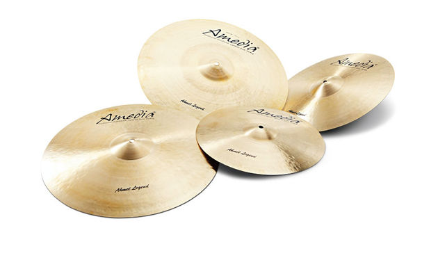 "On review are a pair of 14"" hi-hats, 16"" and 18"" crashes and a 20"" ride from Amedia's Ahmet Legend series"