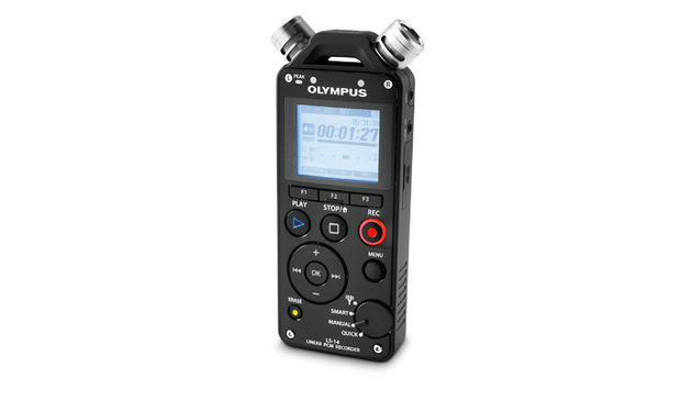 The LS-14 has three mics: two stereo directionals and a central omni-directional mic