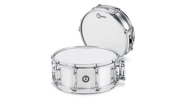 "Here we have a 14""x51⁄2"" snare (front) created from an F4 Phantom fighter jet"