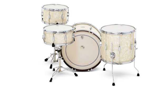 "The 14"" deep bass drum is authentically retro-sized"