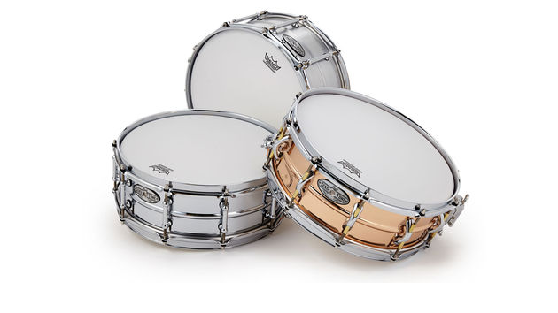 All the new SensiTone drums have a strengthening centre-bead, and the Aluminium shells are seamless