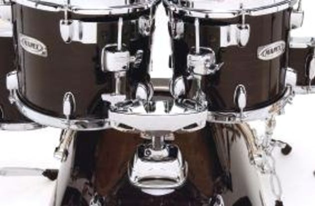 The tom mounts use Mapex's Isolated Tom System.