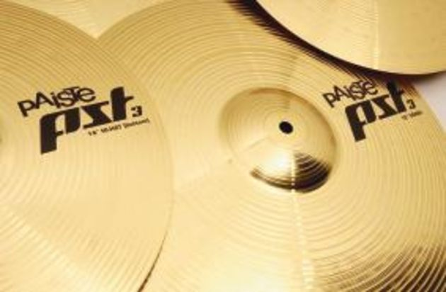 The PST 3 cymbals are made with a brass/copper alloy.