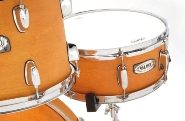 The snare rustles up a crisp, sweet response.