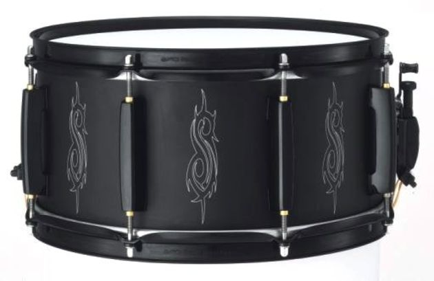 Joey Jordison's all black design with the Slipknot 'S' engraved logo.