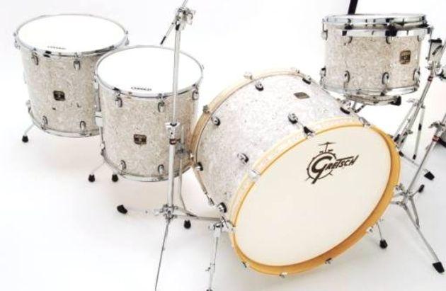 Gretsch Catalina Club Rock Kit White Swirl Finish Drum