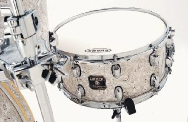 "The 14""x6½"" snare creates a warm response."