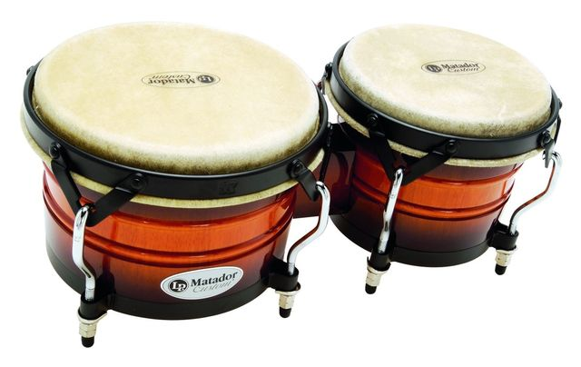 "A set of 7¼"" and 85/8"" bongos."