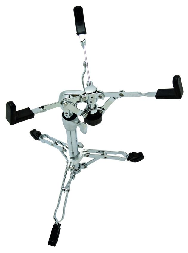 Snare stand: Good reach and rubber tipped arms.