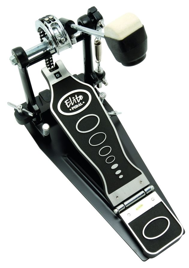 The pedal features a business-like twin chain drive set-up.