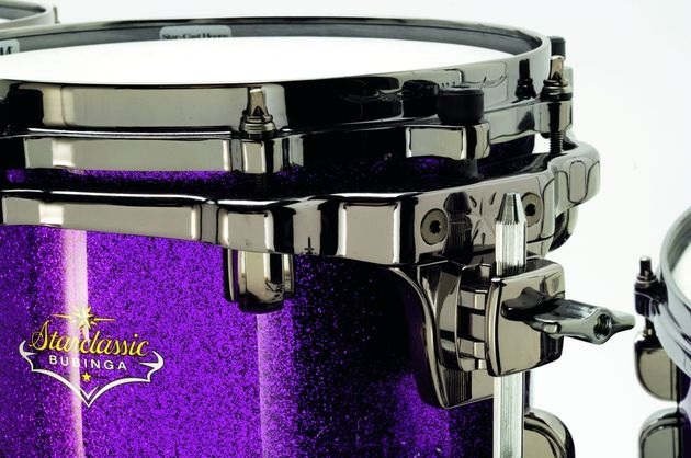 Tama's revamped Star-Cast tom mounting brackets are tightly contoured to take up as little as possible