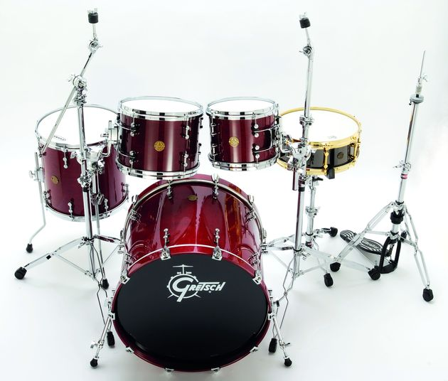 The deep profile rims are a Gretsch trademark.