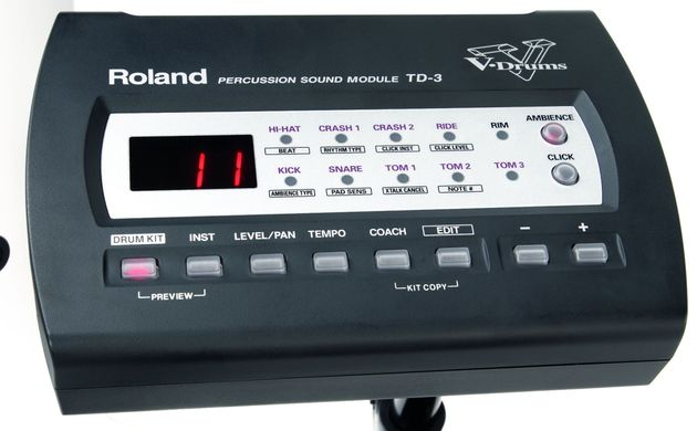 The Classic partnered with the Roland TD-3 proved a cool combination, but you'll have to fork out for the TD-3 separately