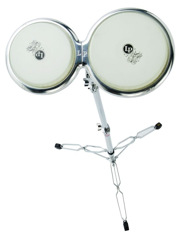 The bongos are made from an aluminium alloy.