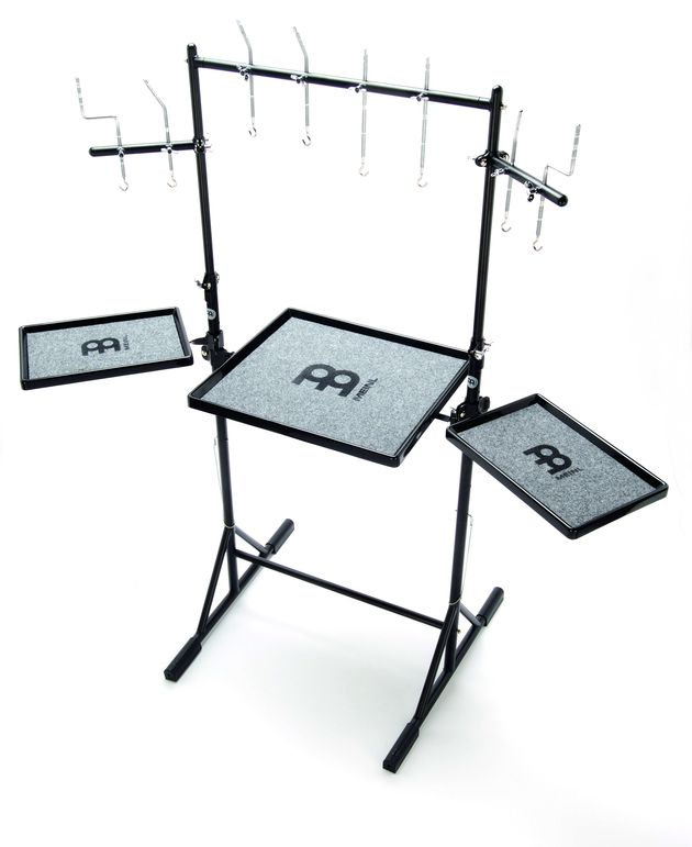The sturdy base legs allow for three percussion tables.