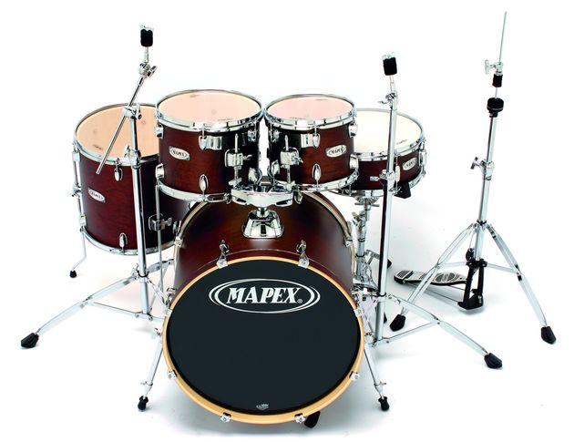 "The VX Jazz bass drum retains the generous 18"" depth."
