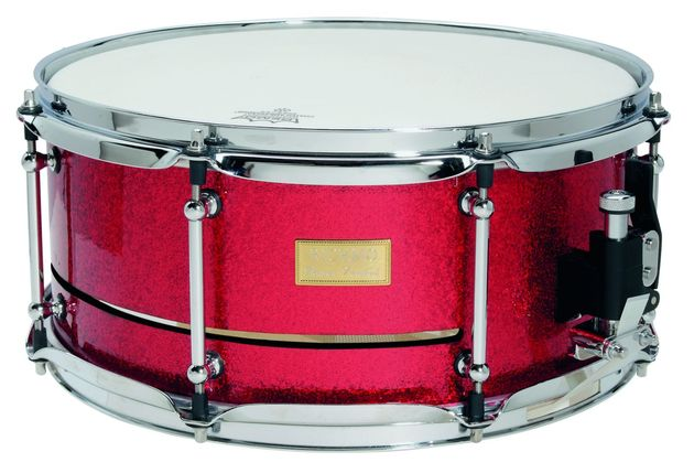 Alan Gilby's vented shell snares create a dry, punchy response.