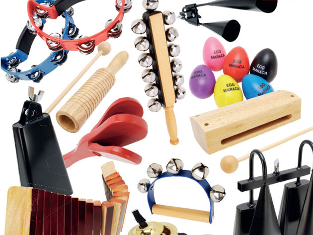 Take your pick! The Peace Luxury Percussion Box contains no less than 35 different instruments