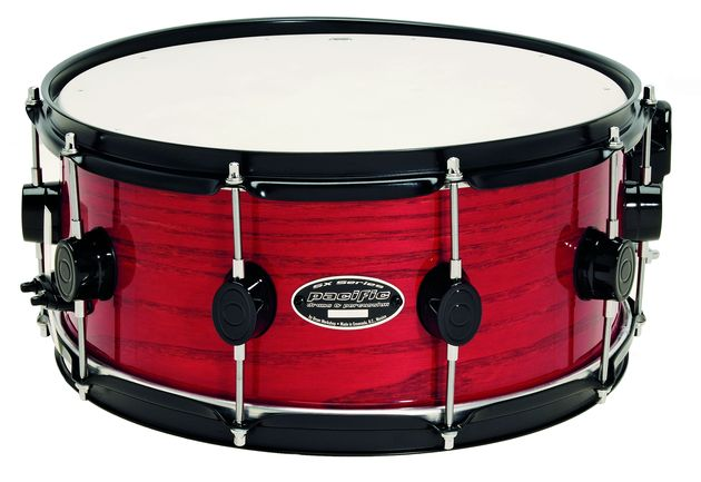 Deep Red Stain lacquer over Tiger ash with black hardware
