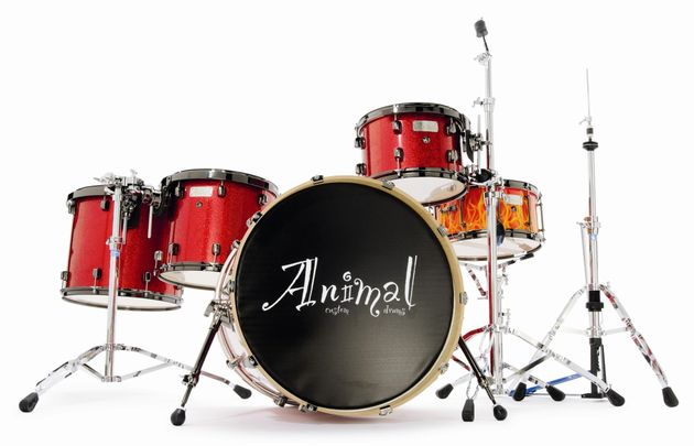 The thin shell bass drum has depth and darkness of tone.