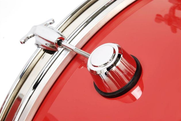 Staccato drums are handmade so you can have them in pretty much any colour you like. This bold, bright red is pretty stunning though