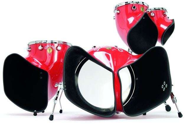 It might look like a pair of clown's trousers, but the huge bass drum packs a hefty punch in the volume department