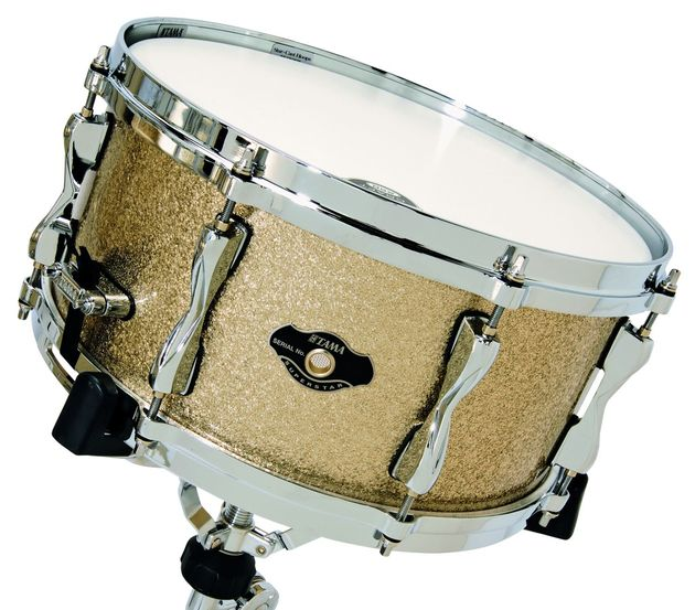 The snare works beautifully when tuned high.