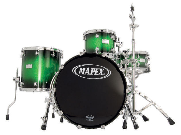 Furnished with Mapex's customary low-mass lugs.