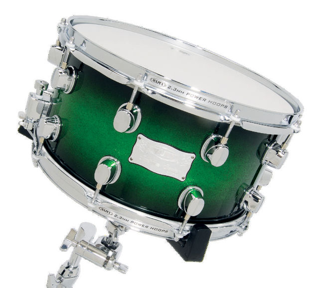 "An appropriately deep 14""x7"" snare drum."