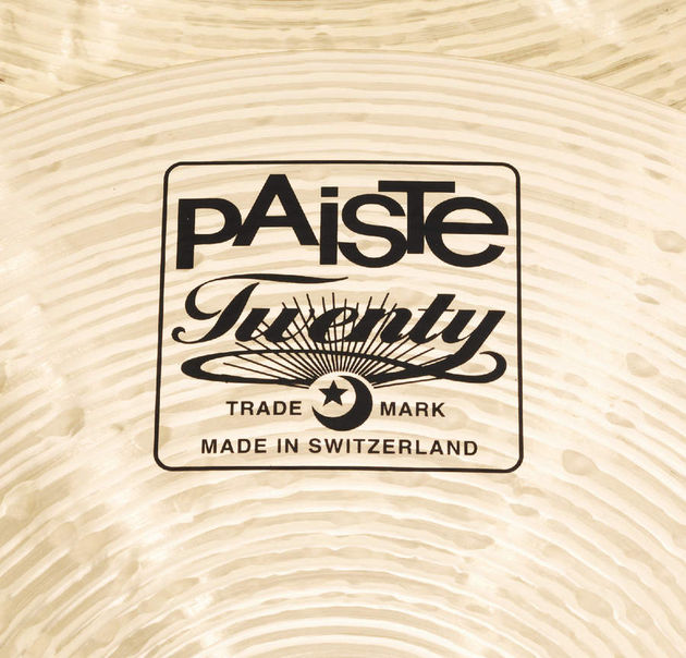 Paiste's attractive box logo.