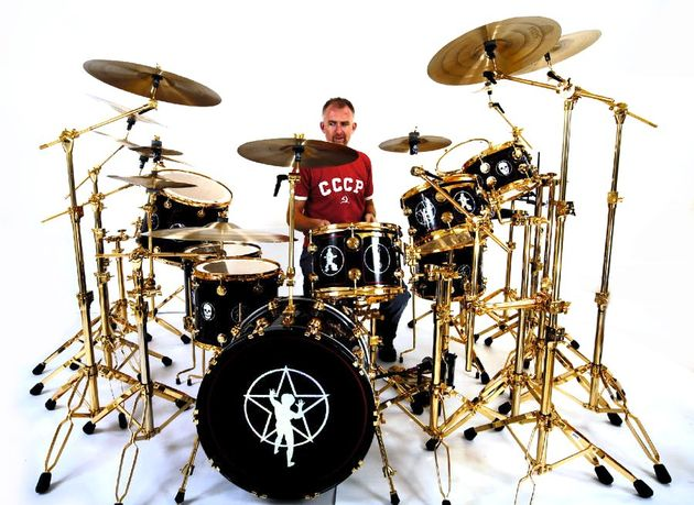 An exact replica of the kit that Neil Peart played during Rush's 30th anniversary tour.