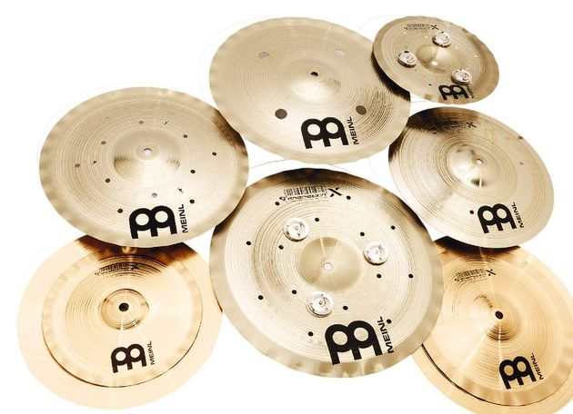 The shapes of the cymbals vary from the conventional to the radical