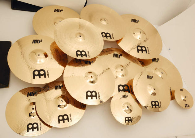 The '8' in the 'B8' refers to the percentage of tin within the cymbal alloy