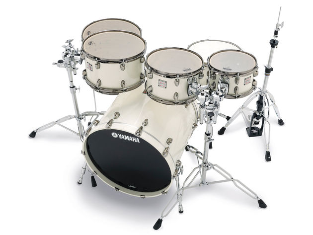 "The kit is augmented by a matching 14""x7"" oak-shelled snare drum from Yamaha's recently launched Loud series"