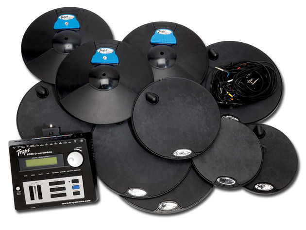 The three moulded ABS cymbals also contain triggers