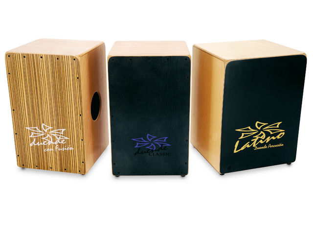 The Con Fusion is a twin-headed cajon with two sound choices
