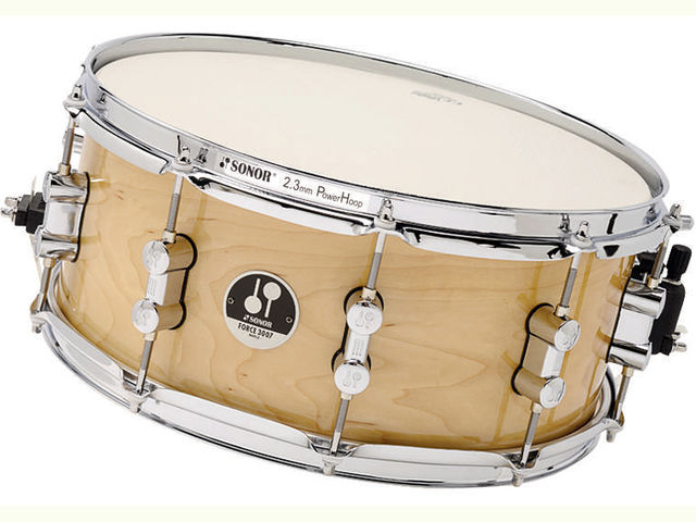 "The matching wood snare is 6"" deep – a good compromise for snappiness with"