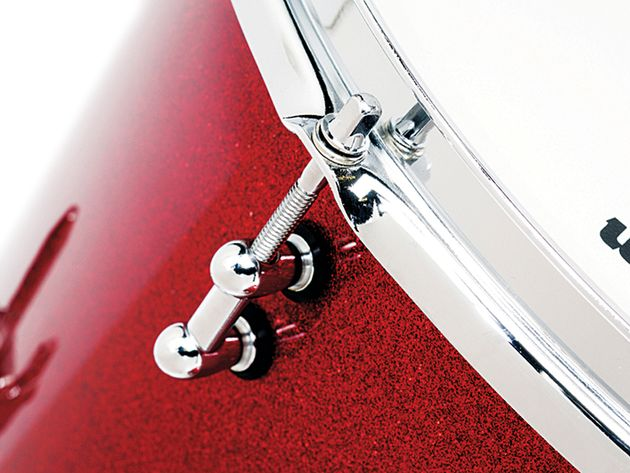 The Red Cherry Sparkle lacquered finish has a superb glass-like quality - and there are five others to chose from
