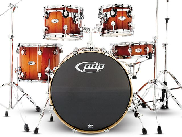 "The 22"" bass drum was chosen because it is the most popular size from PDP"
