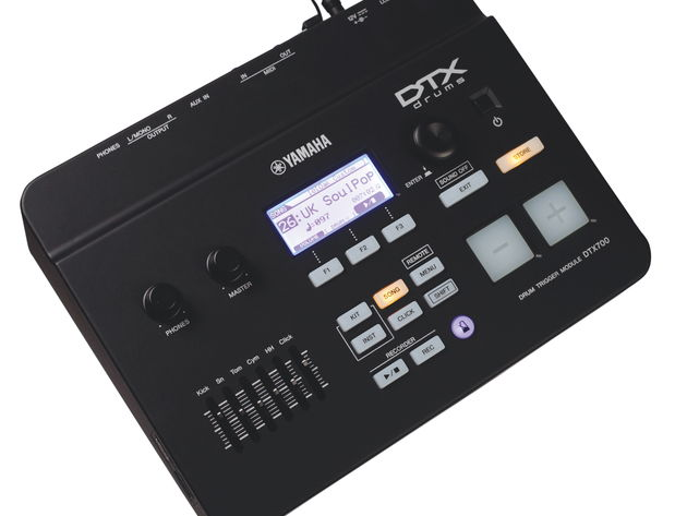 WAV and AIFF files can be loaded into the DTX700 module via USB stick, allowing a useful expansion of the on-board sound set.