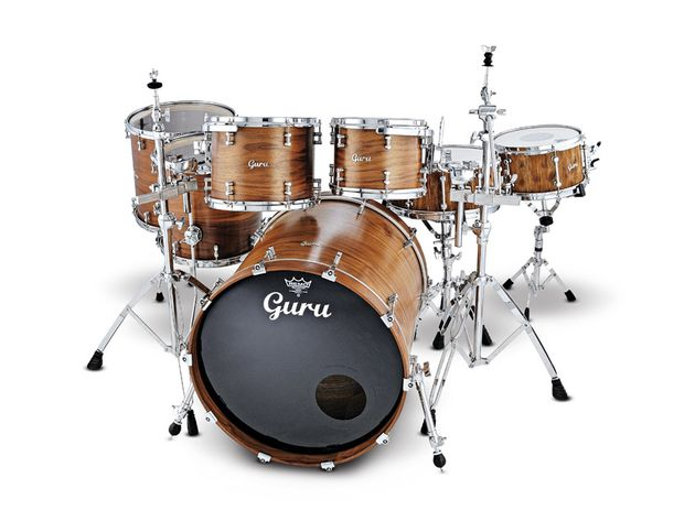 Guru Drumworks Walnut drum kit with Oak snares (£3900 + £499 for snare)