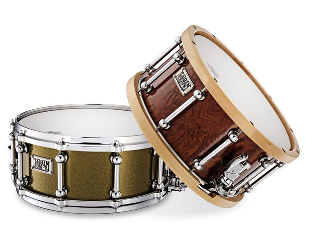 Thin shell and wood hoops make for a deeper,  warmer and more open tone