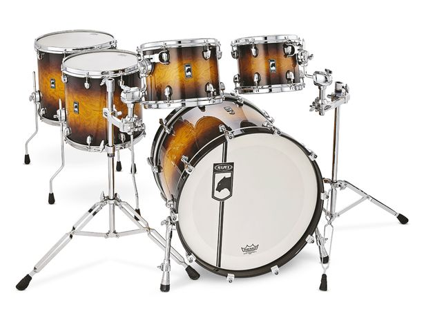 The lacquer matches the existing Velvetone snare drum.