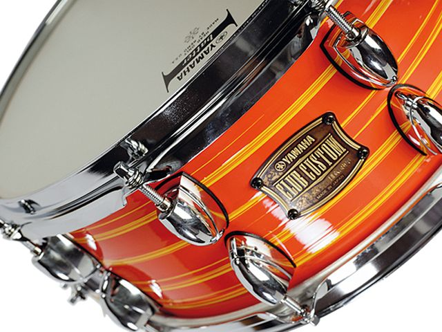 the snare feels solid with a dense, deep sound.