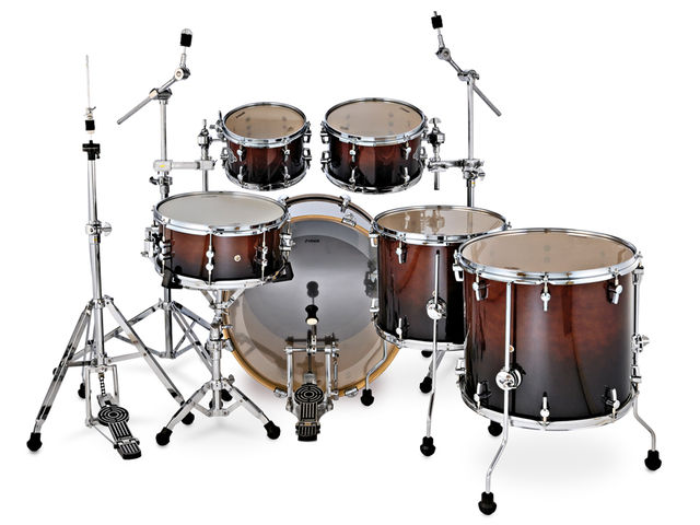 The toms have Total Acoustic Resonance (TAR) mounts.
