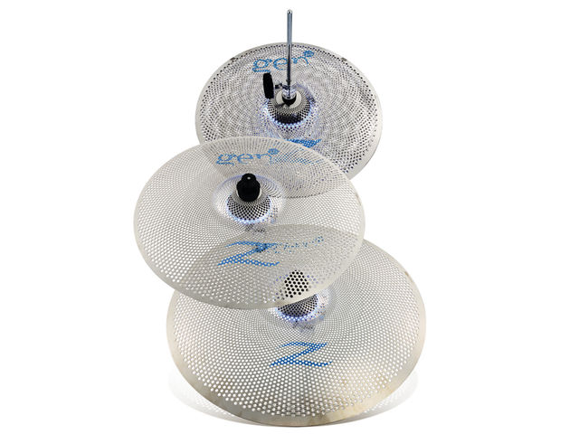 Beneath the cymbal sits a dome-shaped dual microphone.