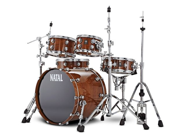 Natal Walnut drum kit