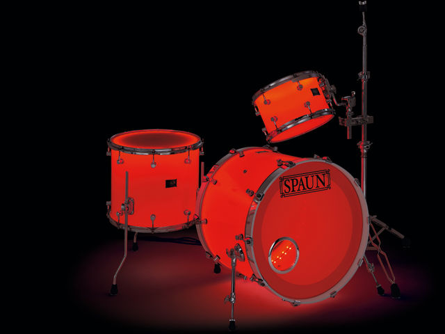 The LED lights mounted inside each shell of Spaun's Custom LED kit can provide myriad lighting effects